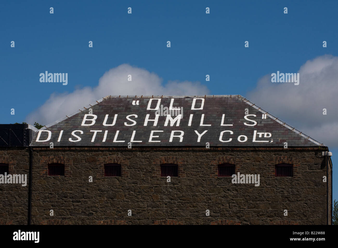 Old Bushmills Distillery Bushmills County Antrim Northern Ireland - Stock Image