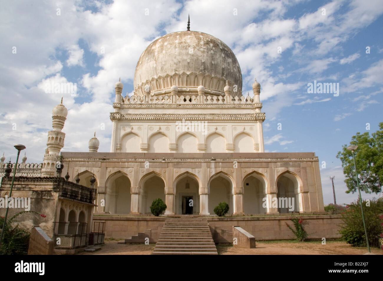 The tomb of Sultan Muhammad Qutb Shah (1611 - 1625) at the complex holding the mausoleums of the Qutb Shahi Kings - Stock Image