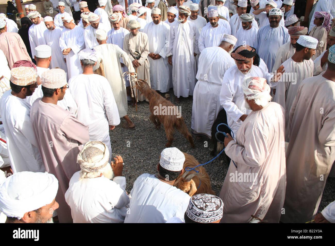 Nizwa goat market Sultanate of Oman - Stock Image