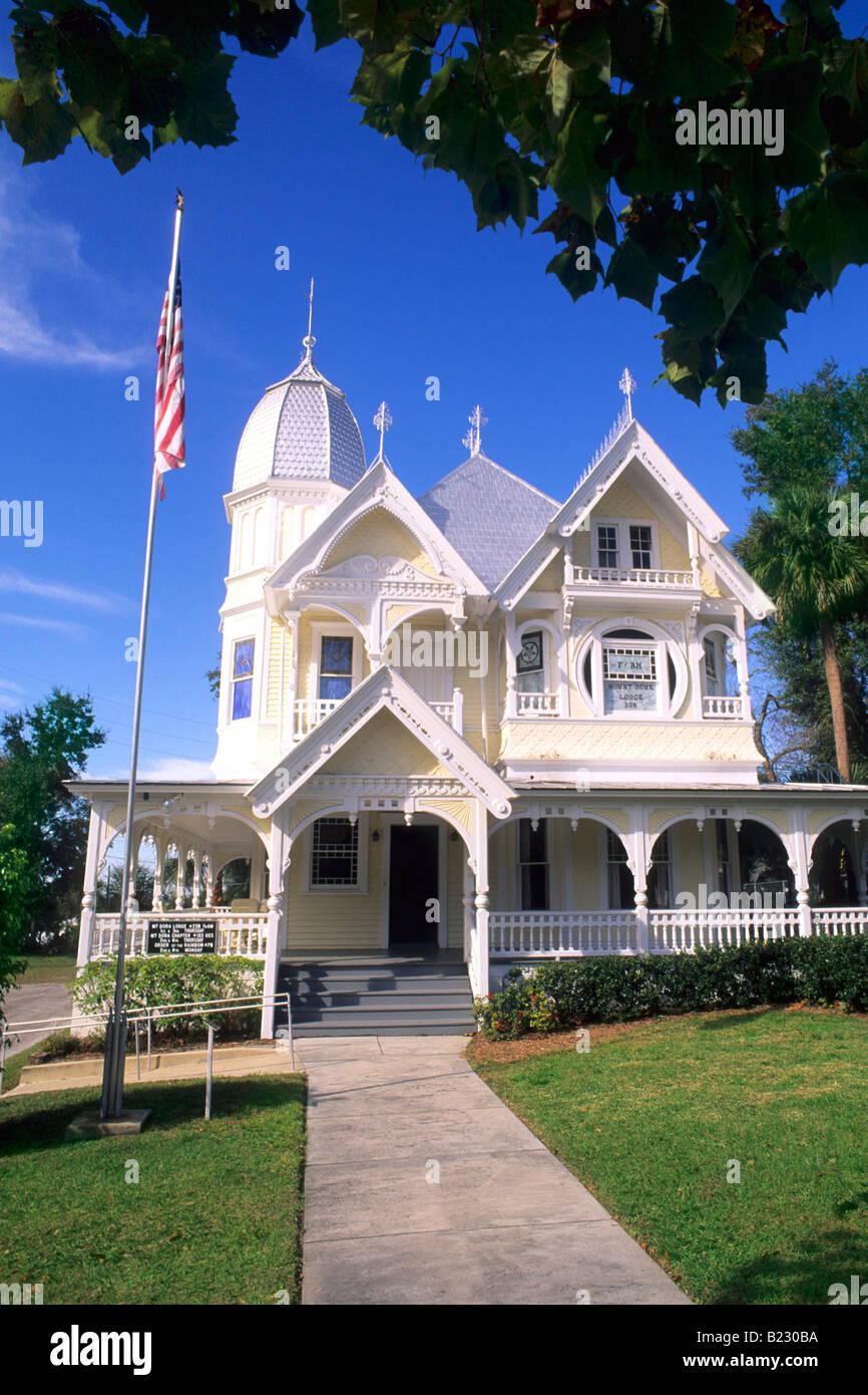 Facade of building, Donnelly House, Mount Dora, Florida, USA Stock Photo