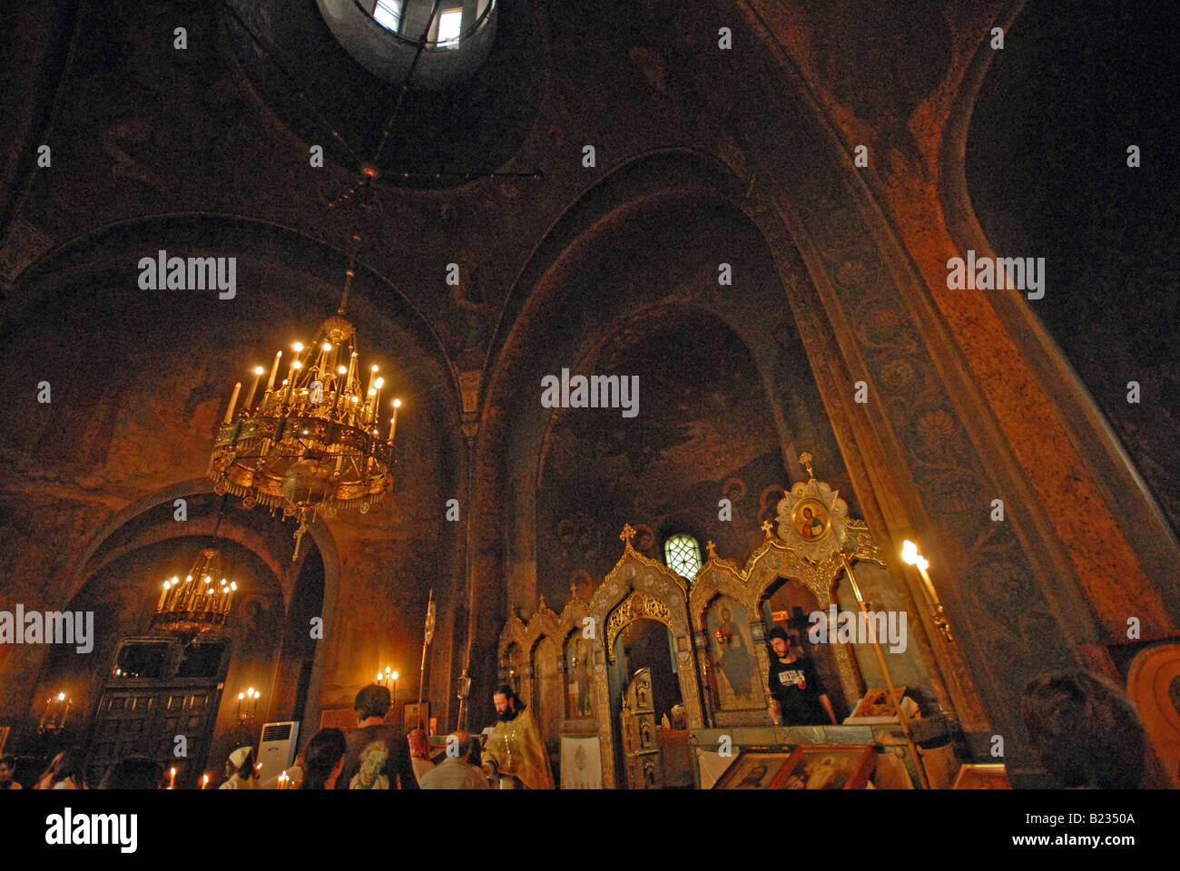 The beautiful Russian Church in the centre of Sofia, Bulgaria. Stock Photo