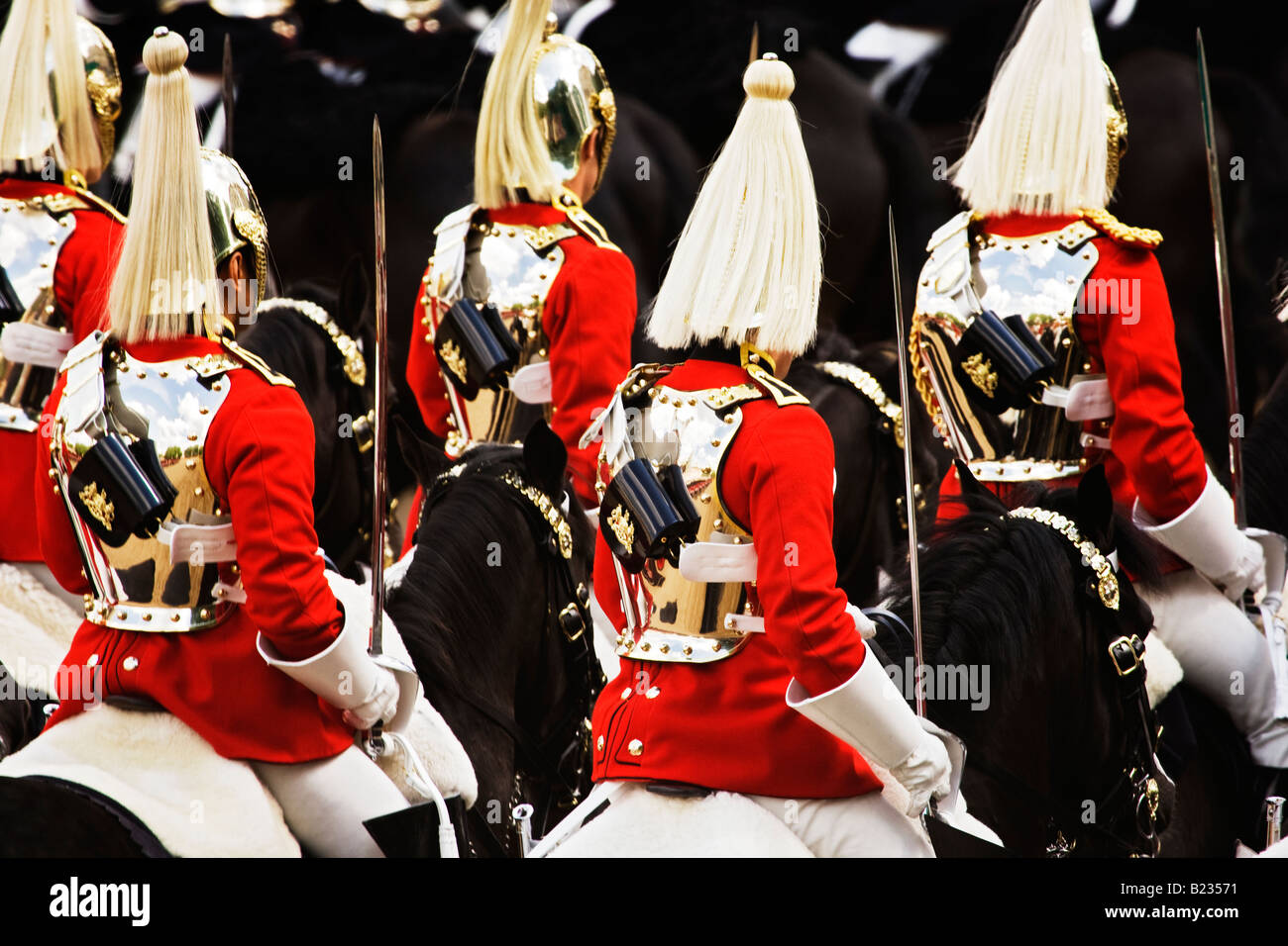 Lifeguards in Trooping the Colour ceremony,London,England,UK Stock Photo