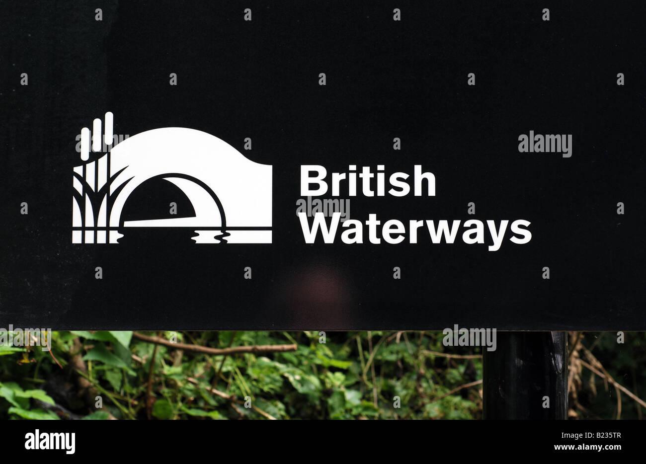 British Waterways name and logo - Stock Image