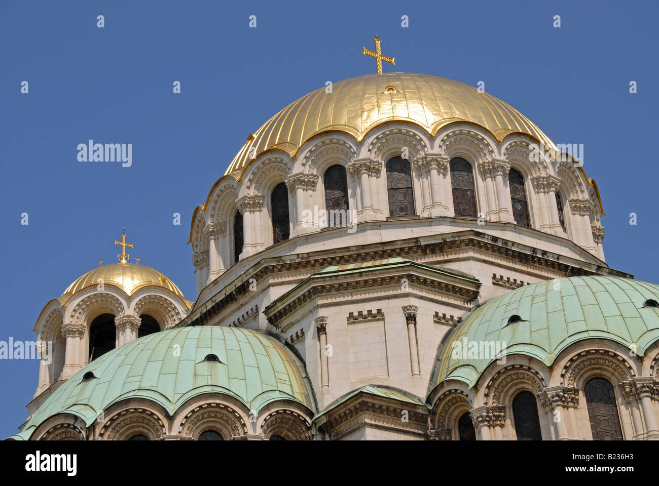 The Alexander Nevski cathedral in the centre of Sofia, Bulgaria. - Stock Image