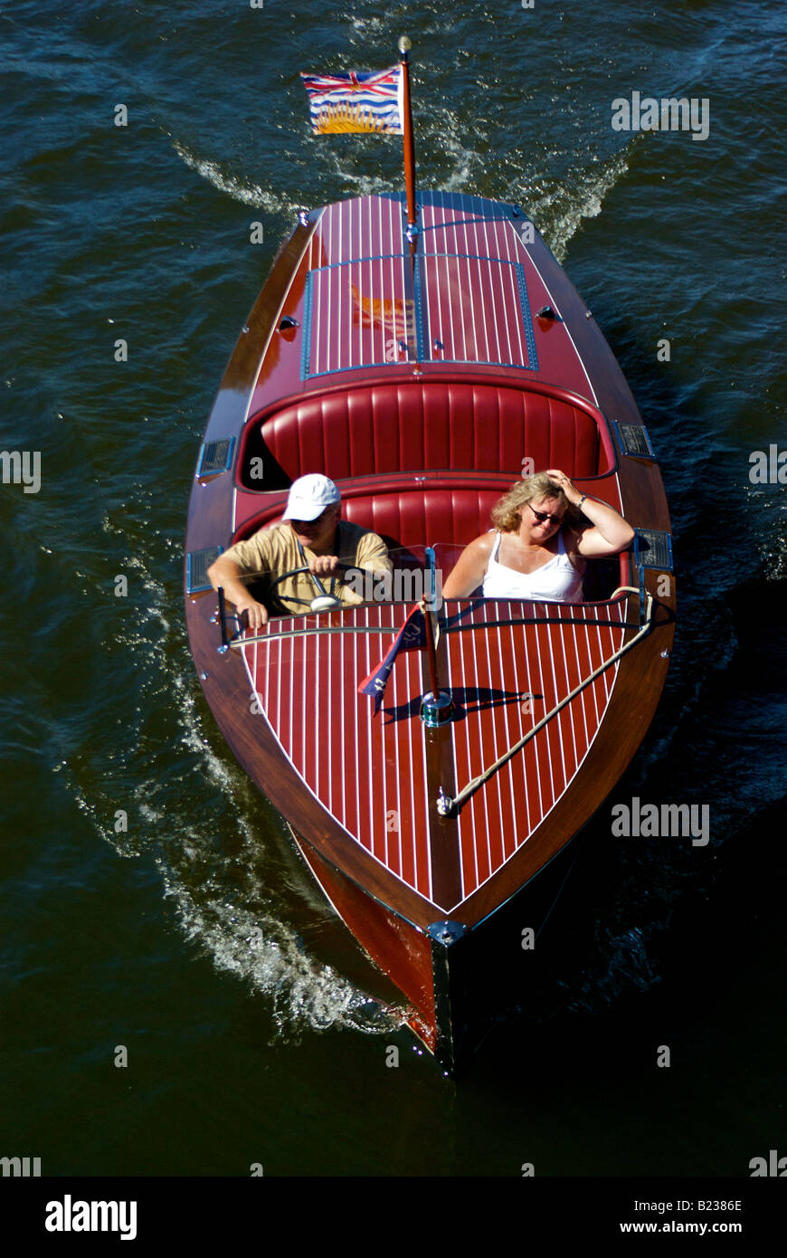 Classic Antique Wooden Power Speed Boat Stock Photo 18511990 Alamy