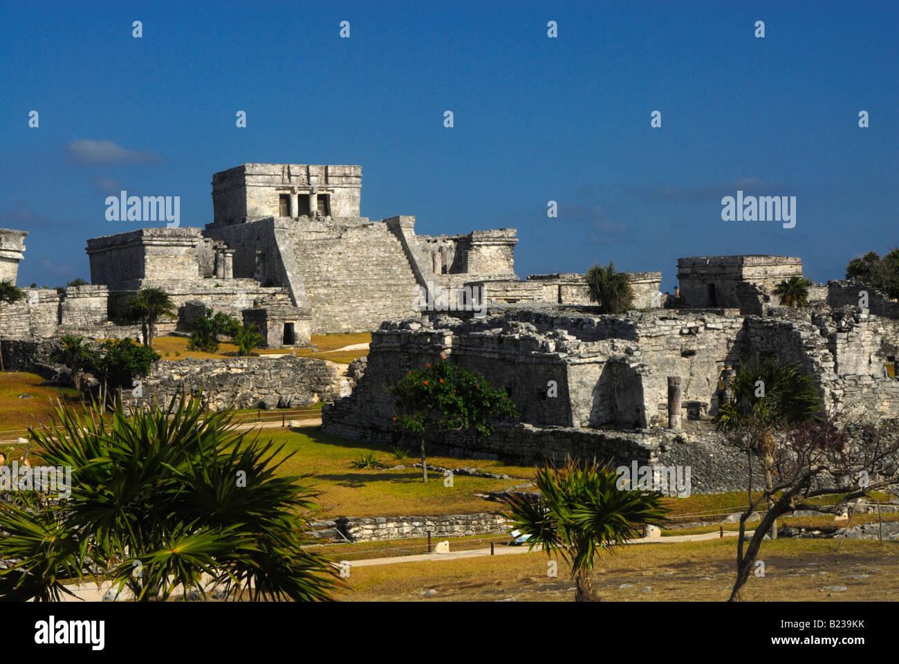 Tulum Mayan Ruins, Mexico - Stock Image
