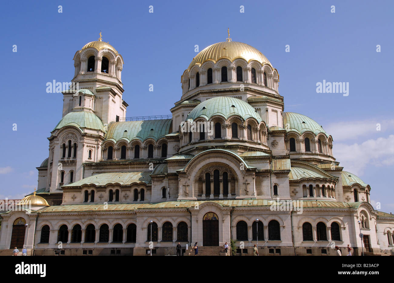 The Alexander Nevski cathedral in the centre of Sofia, Bulgaria. Stock Photo