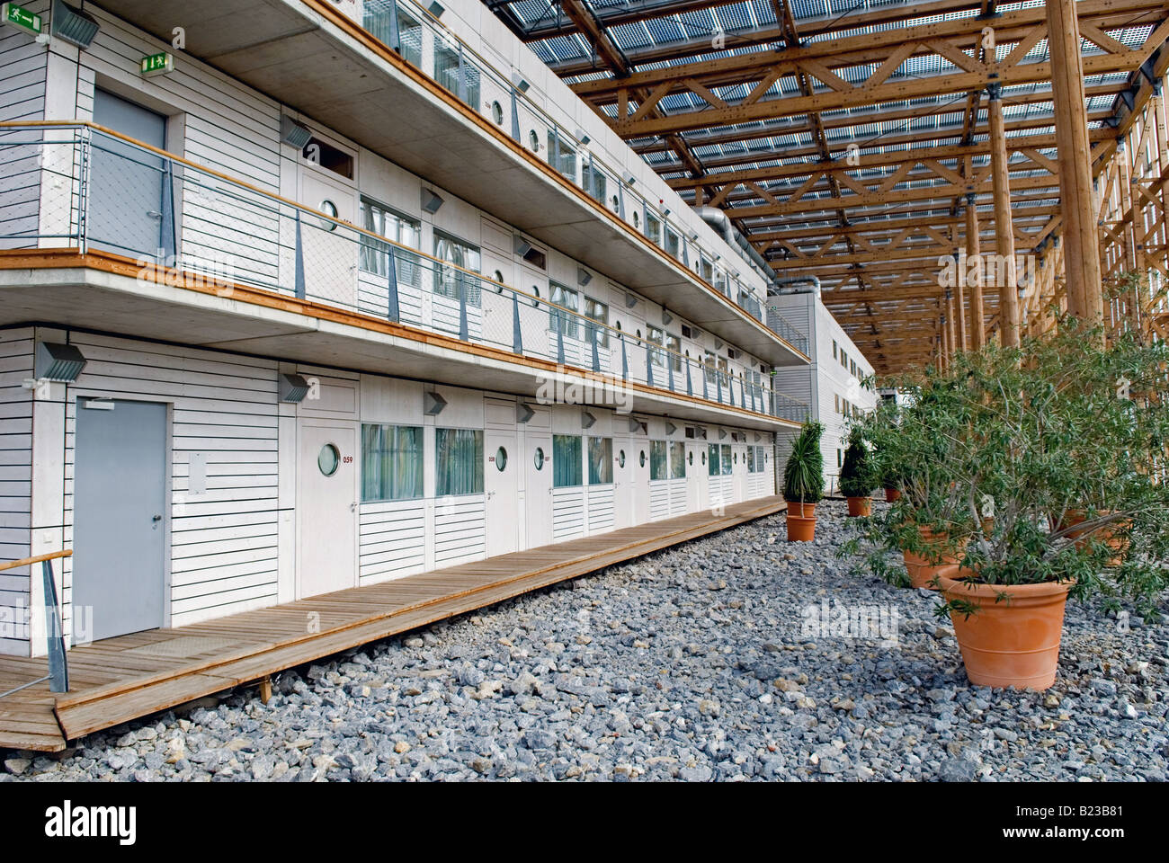 Mont-Cenis Academy, an eco-friendly educational and civic building in Herne, North Rhine-Westphalia, Germany. Stock Photo