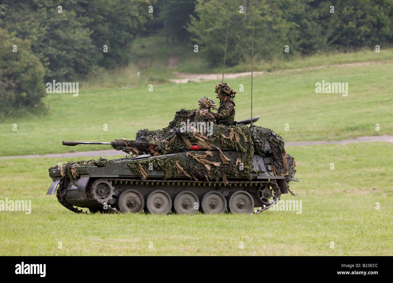 Scimitar is an armoured reconnaissance vehicle sometimes classed as a light tank used by the British Army - Stock Image
