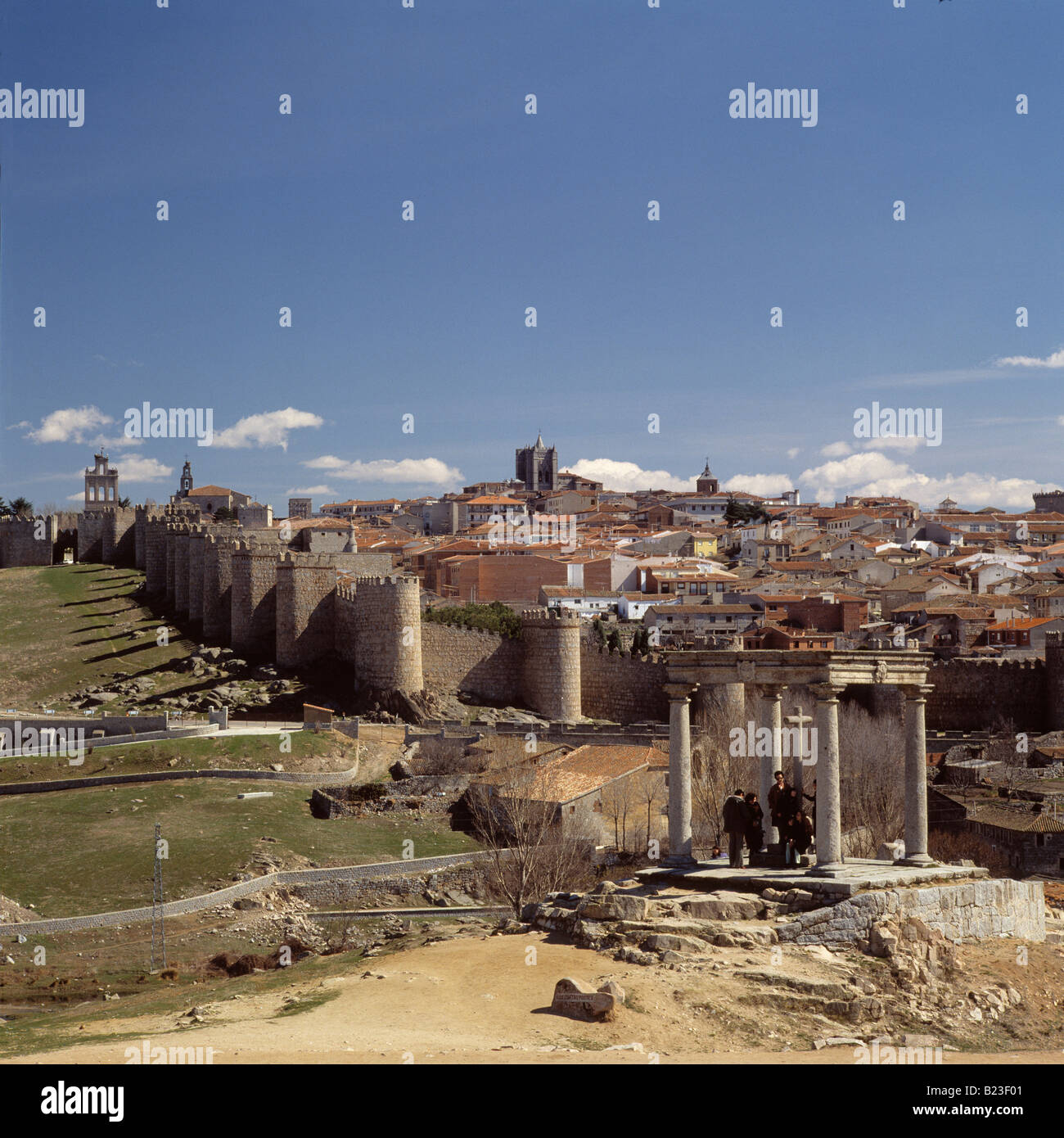 Overlook of the Stonewalls Avila Spain - Stock Image