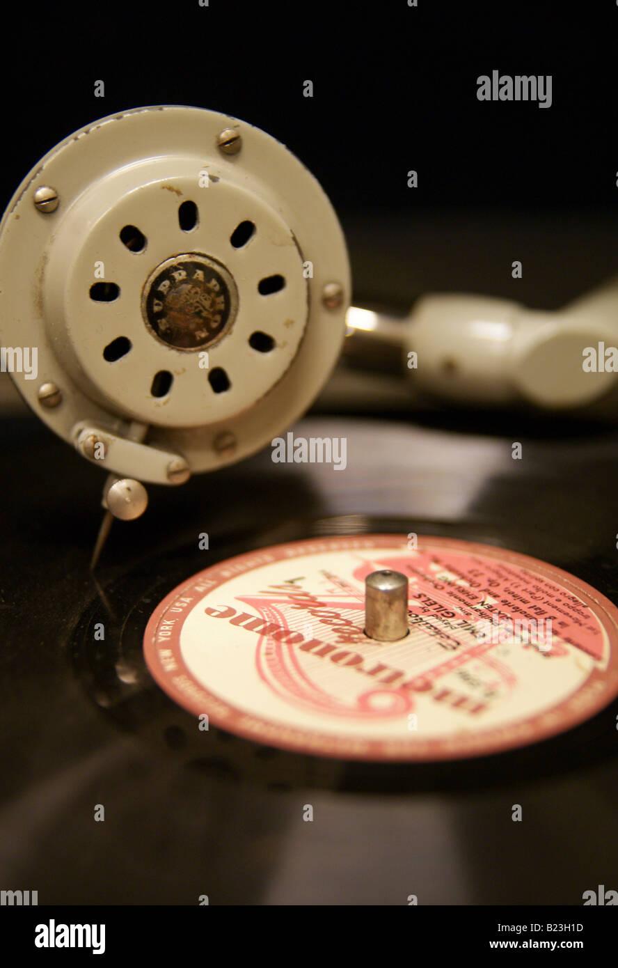 Old gramophone - Stock Image