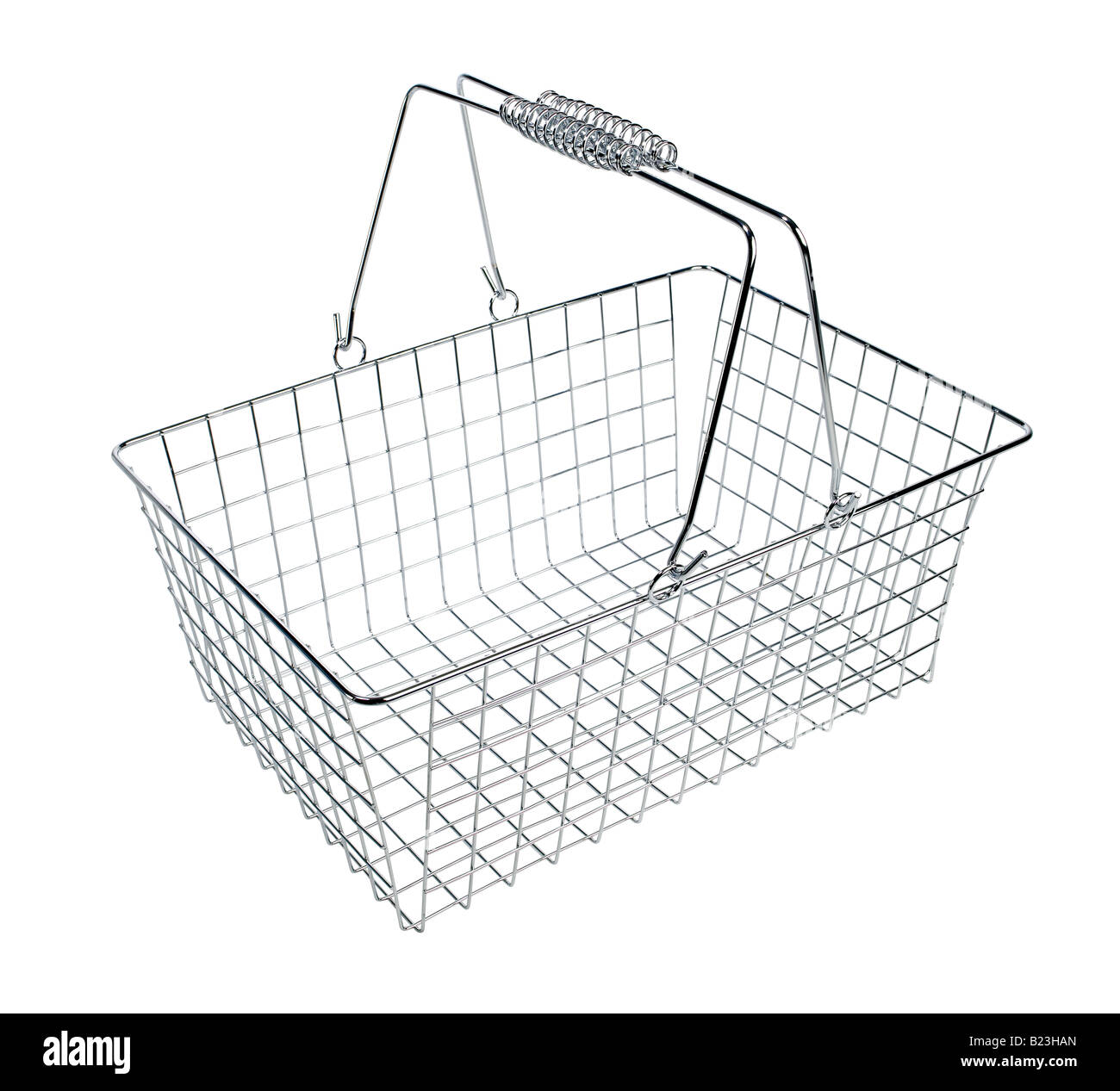 Shopping wire basket - Stock Image