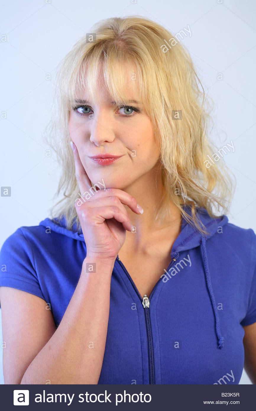 portrait of a blonde woman Stock Photo