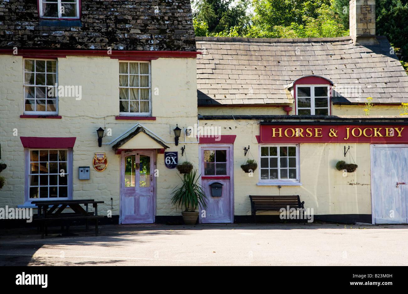 A typical English village pub or inn in Ashton Keynes, Wiltshire, England, UK - Stock Image