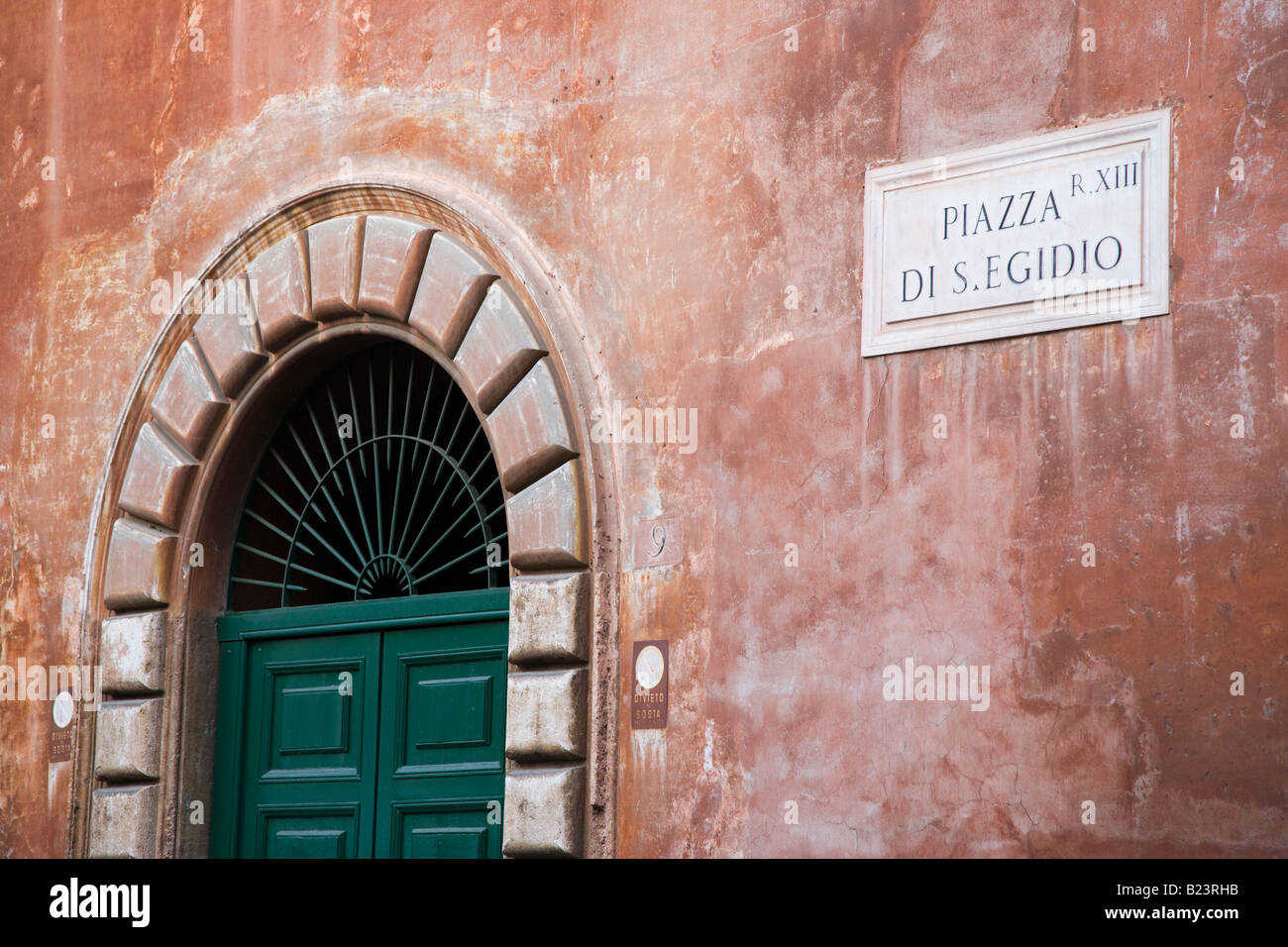Buildings and architecture Trastevere Rome Italy - Stock Image
