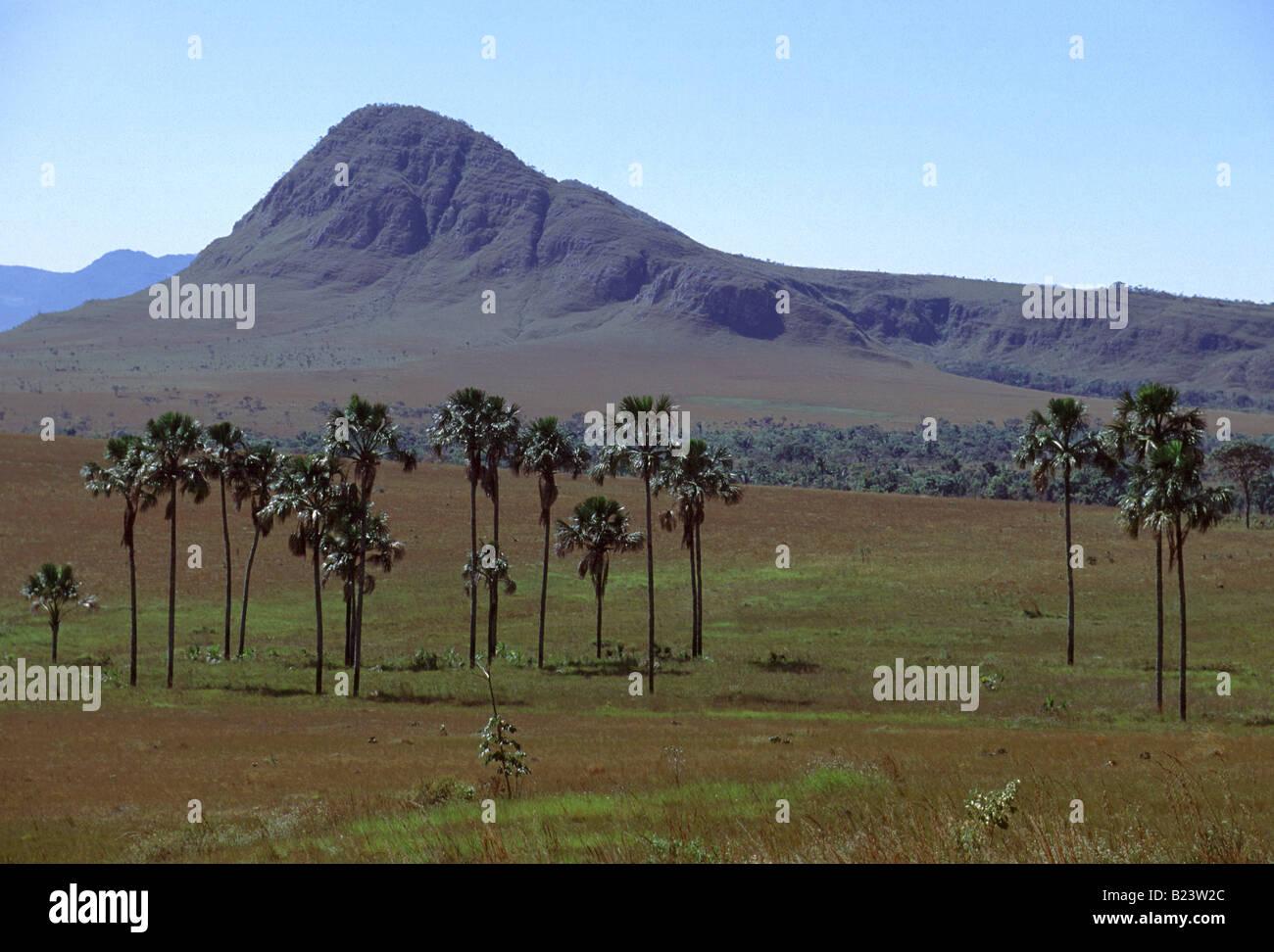 Landscape at Chapada dos Veadeiros, Brazil - Stock Image