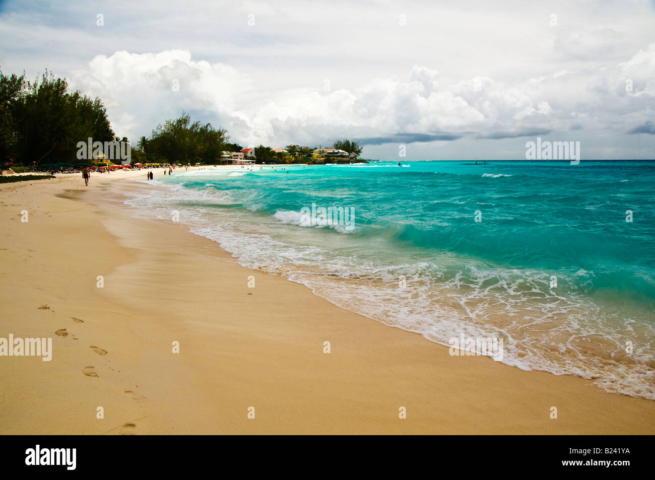 Rockley Beach on the South Coast of Barbados - Stock Image