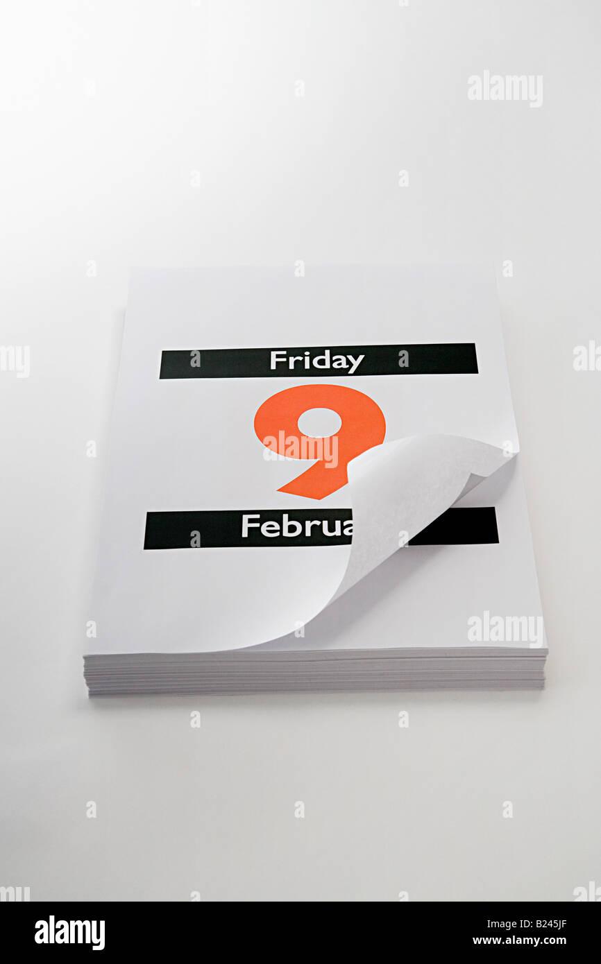 Ninth february - Stock Image