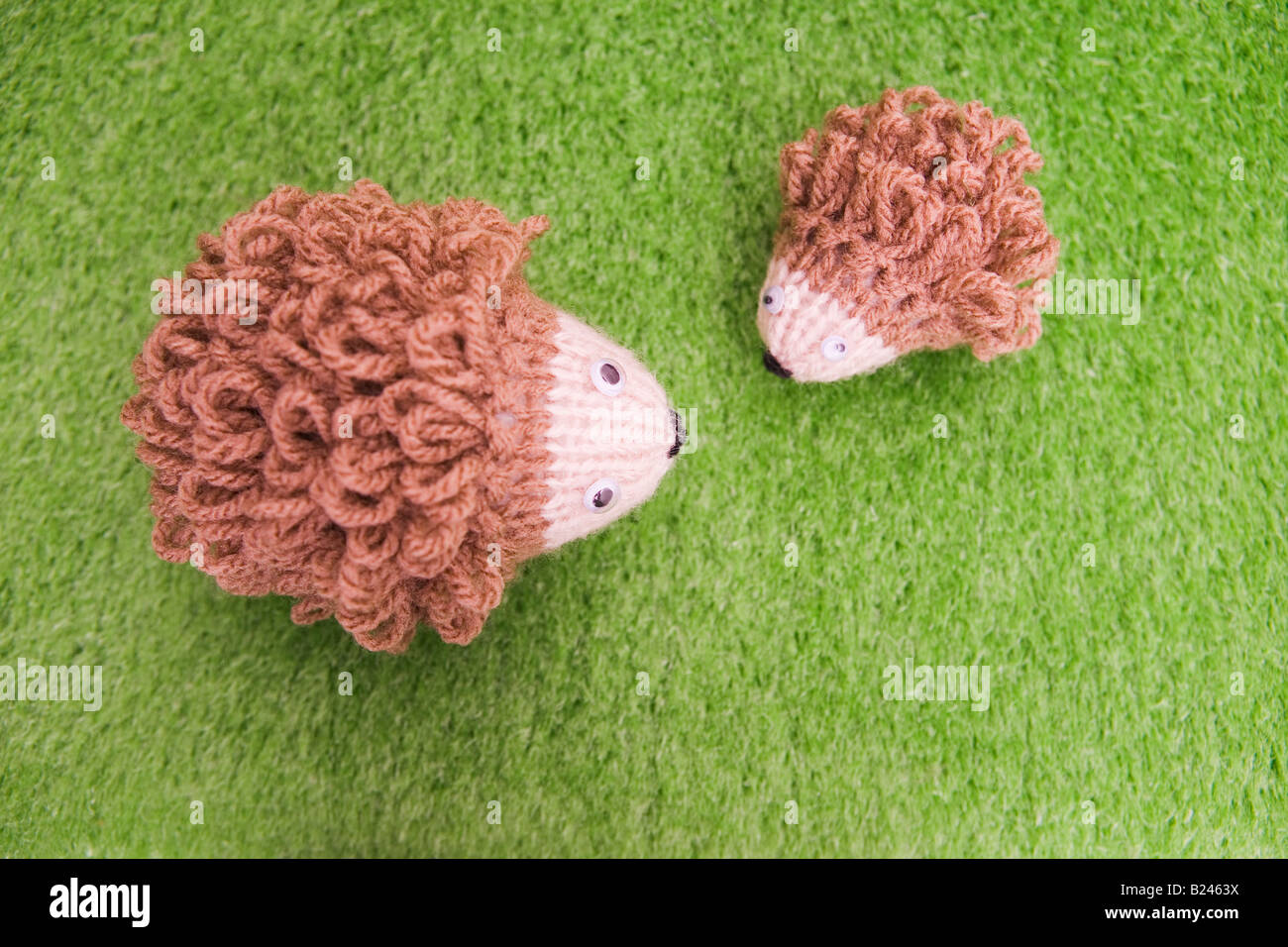 Toy hedgehogs - Stock Image