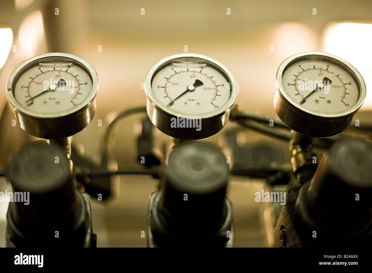 Pressure indicators - Stock Image