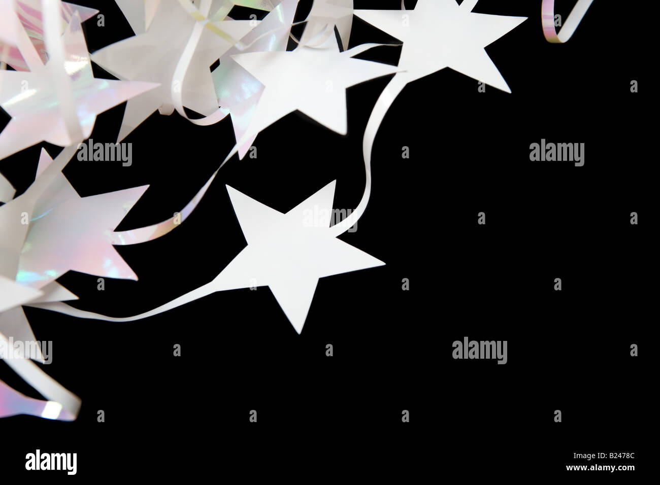 Star shaped christmas decorations - Stock Image