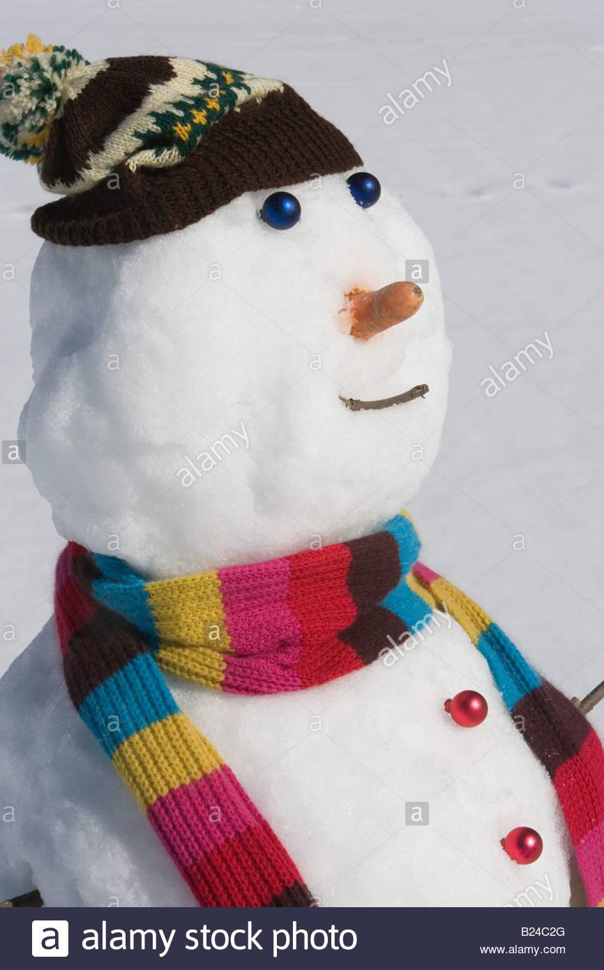 A snowman - Stock Image
