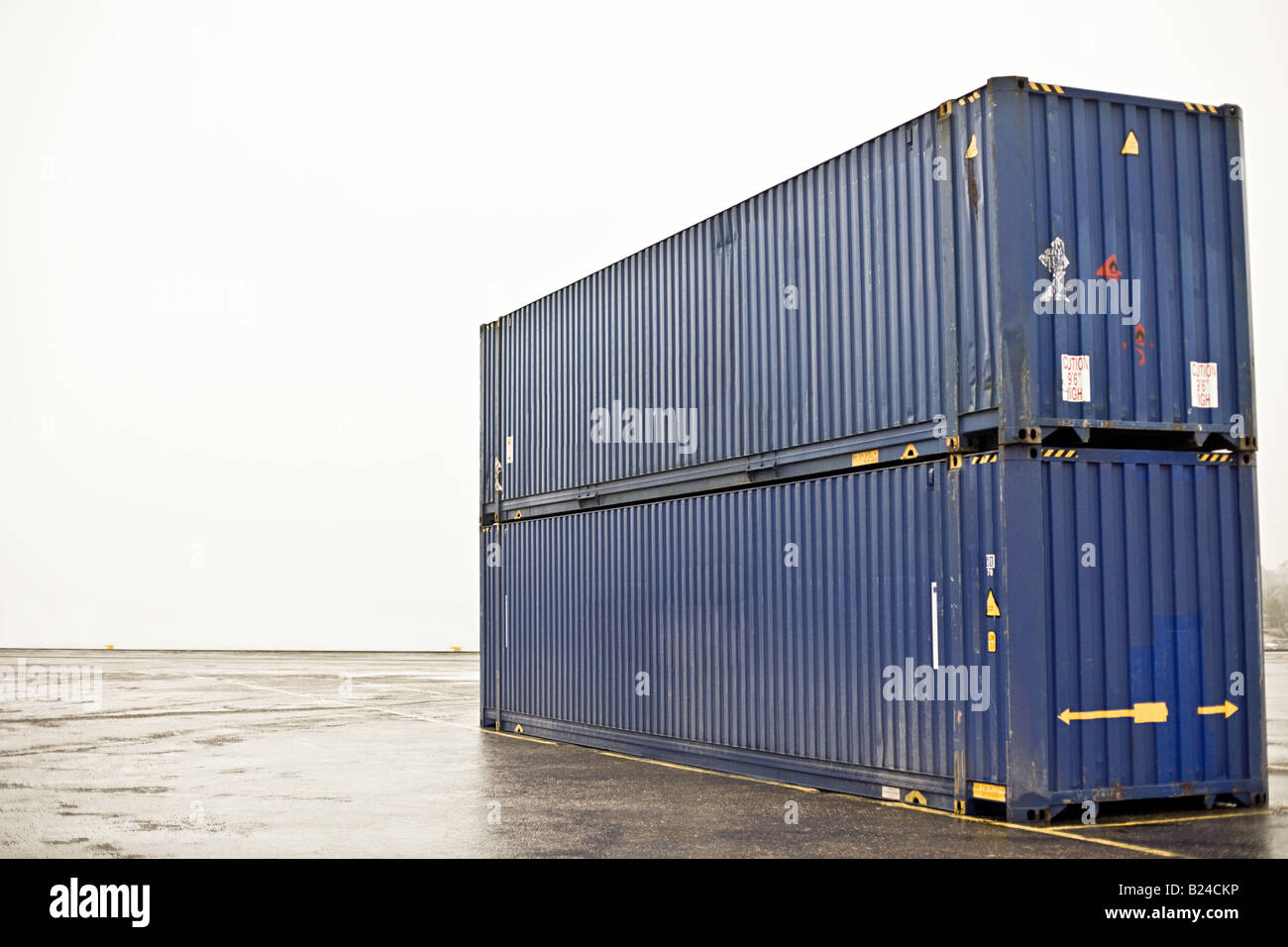 Two cargo containers - Stock Image