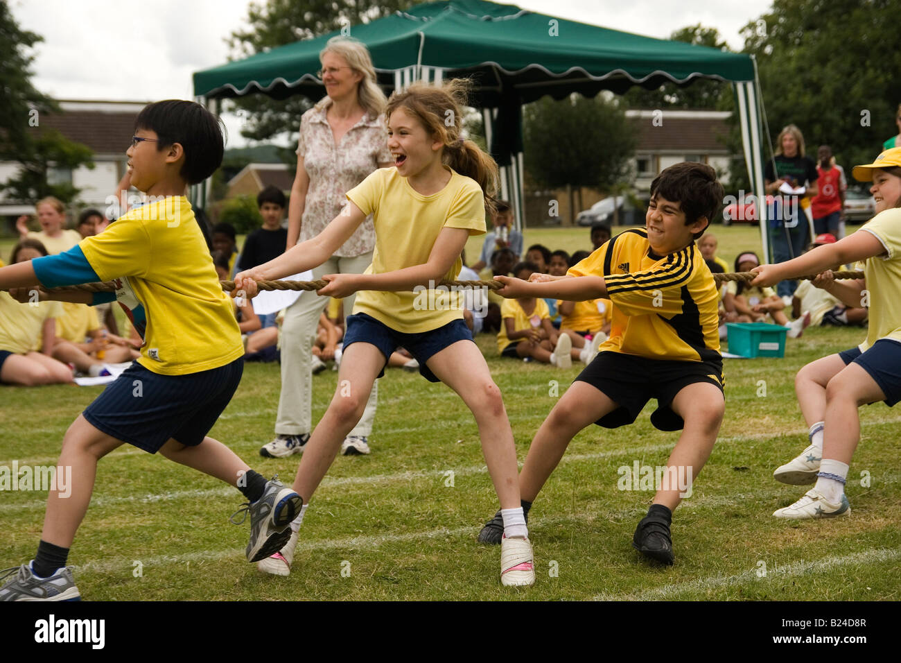 School Sport's day - Stock Image