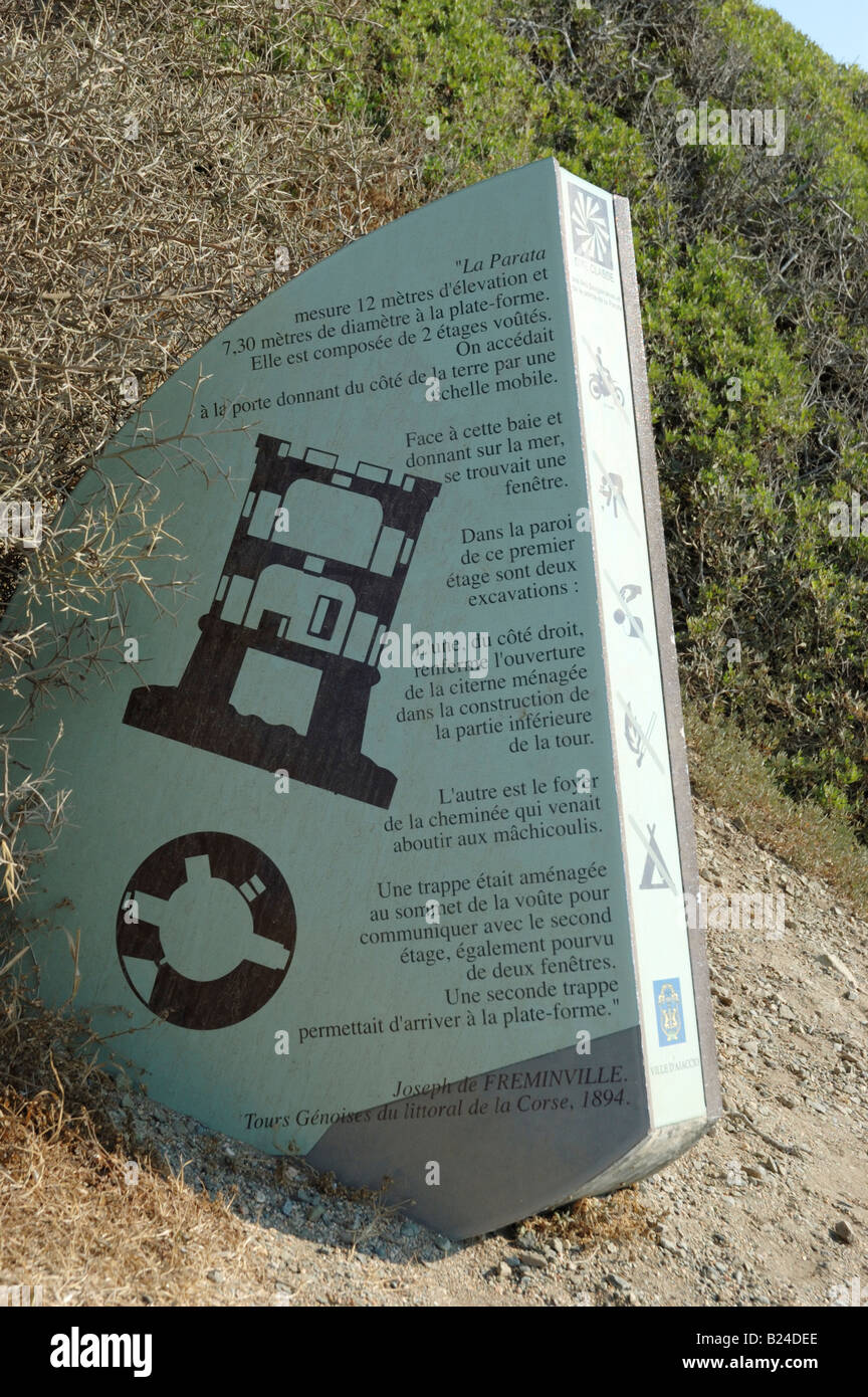 A Stone Signpost Describing The Construction Of The Genoise Watch