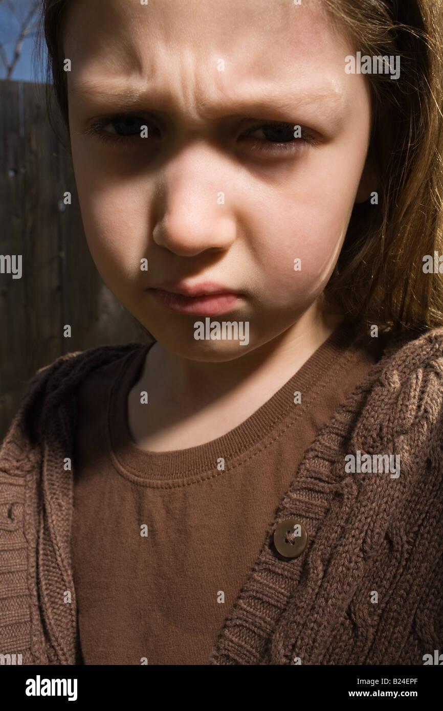 Sullen girl - Stock Image