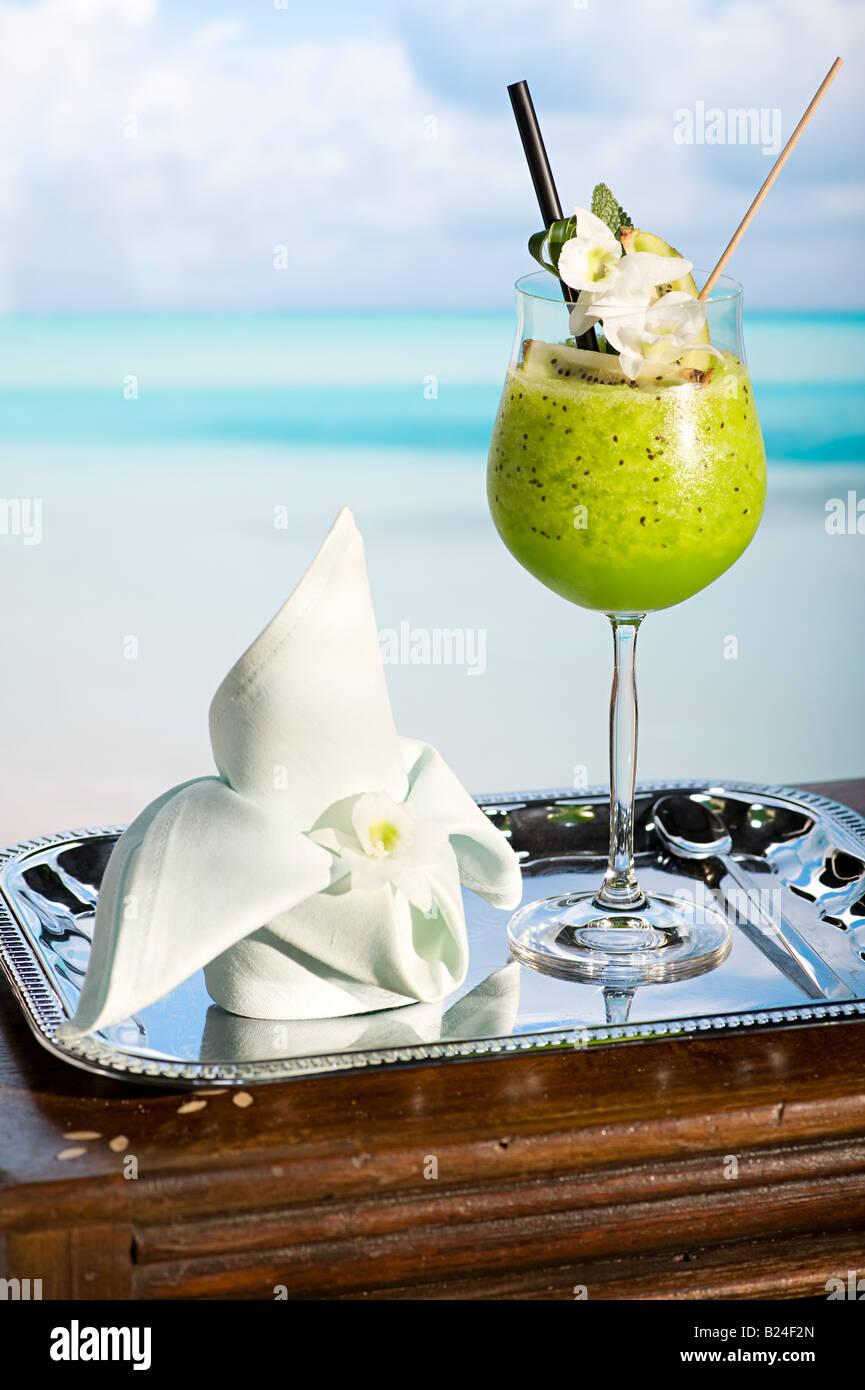 Kiwi smoothie - Stock Image