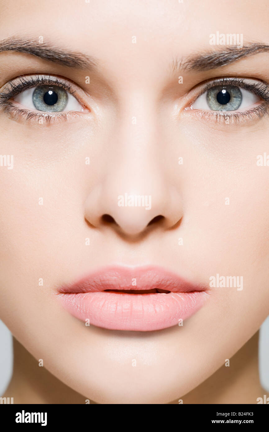 Face of a beautiful young woman Stock Photo