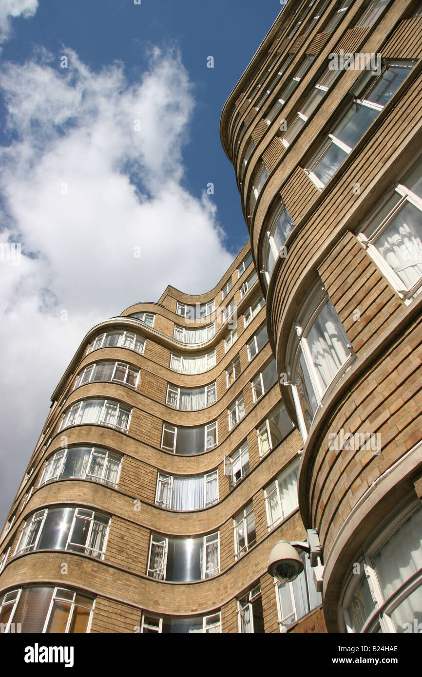 Poirot, Florin Court is the fictional home of the detective - Stock Image