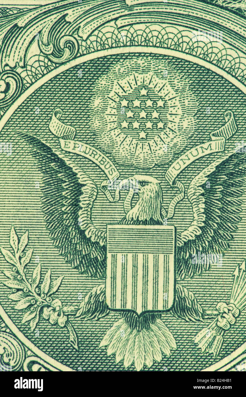 United States of America coat of arms on one dollar bill US