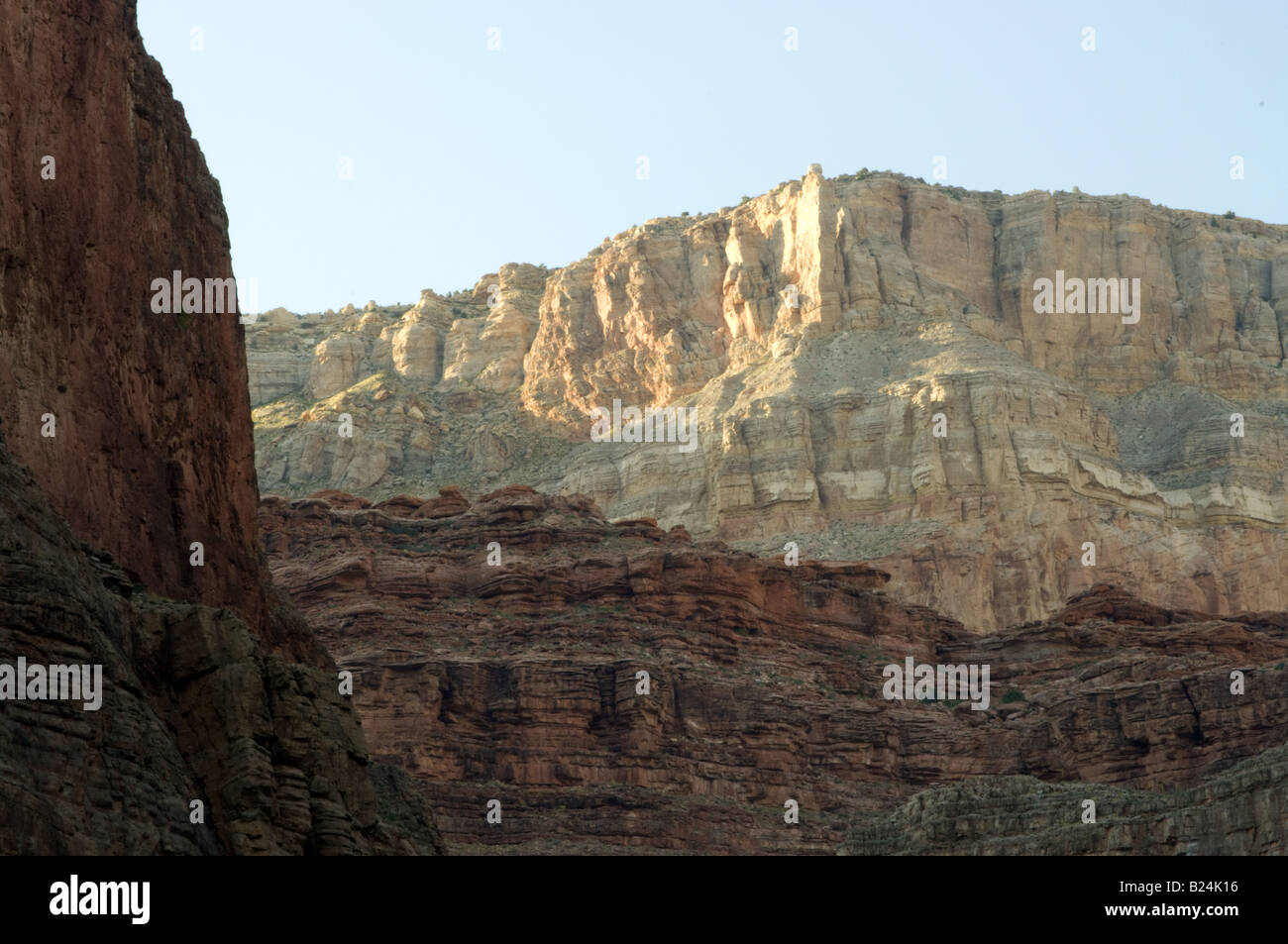 Sunset in the Grand Canyon - Stock Image