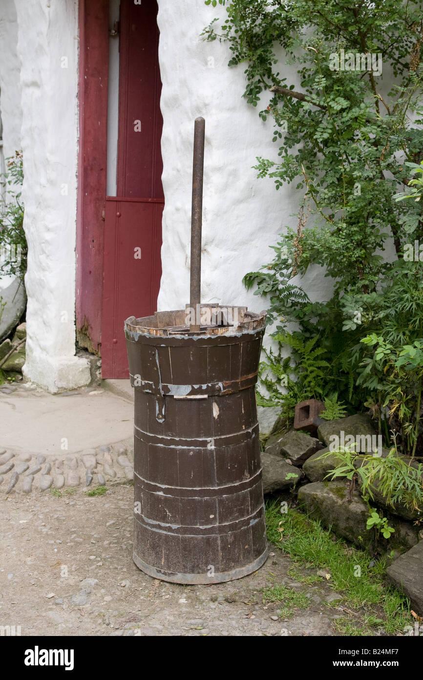 Antique butter churn Stock Photo