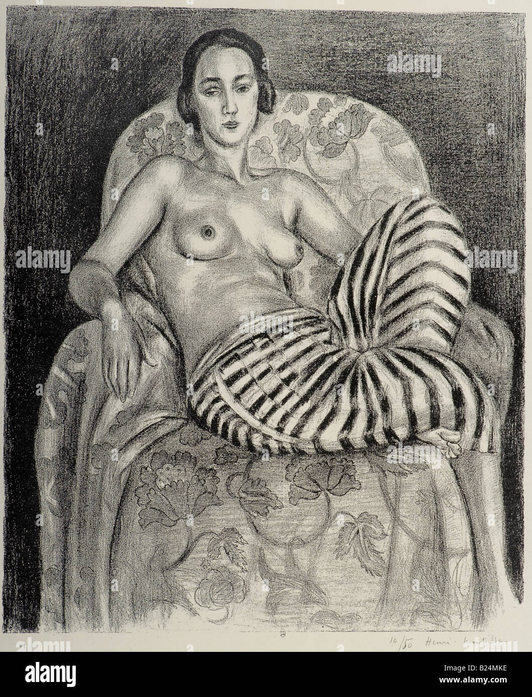 Large Odalisque in Striped Trousers by Henri Matisse 1925 - Stock Image