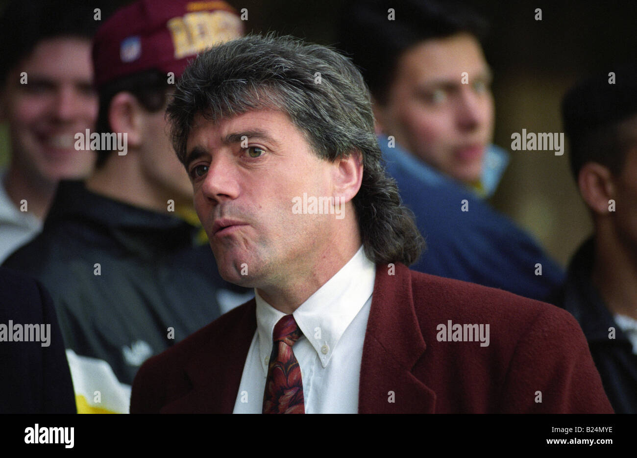 WOLVES V NEWCASTLE UNITED AT MOLINEUX 1 4 92  Newcastle Uniteds new manager Kevin Keegan Stock Photo