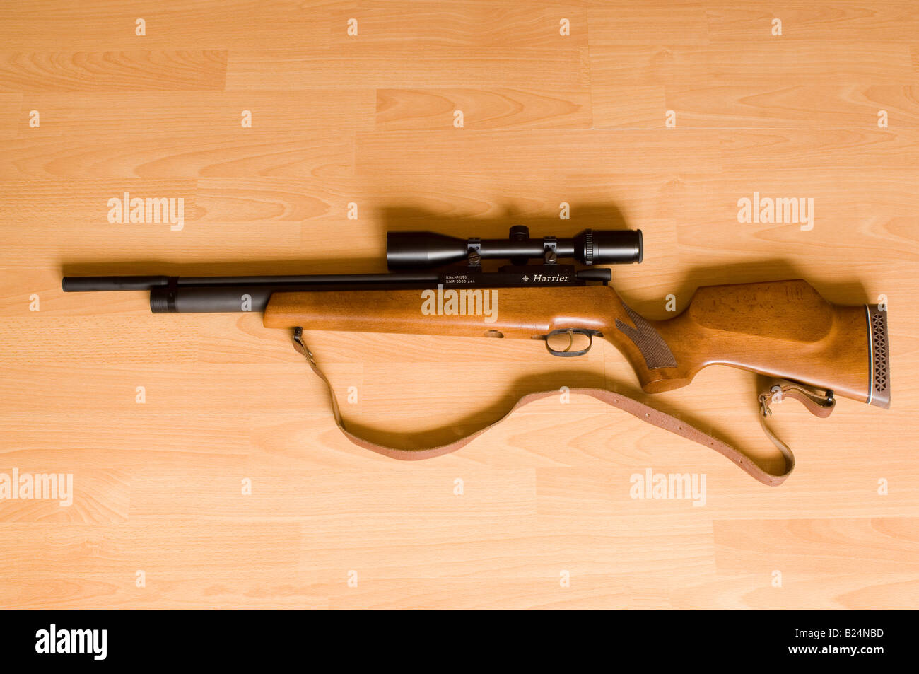 Daystate Harrier Pre-Charged Pneumatic Air Rifle & Telescopic Sight - Stock Image