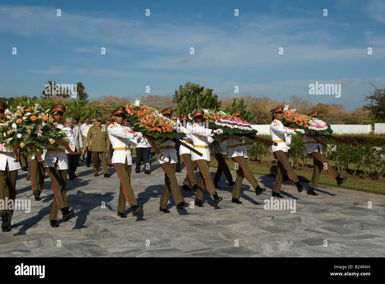 Cuban military parade Stock Photo