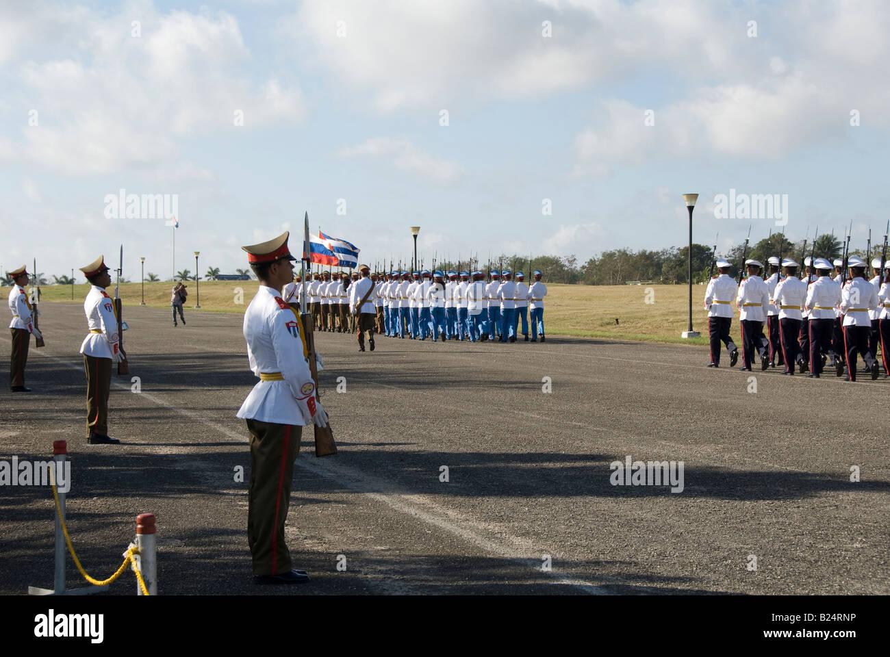 Cuban military parade Stock Photo