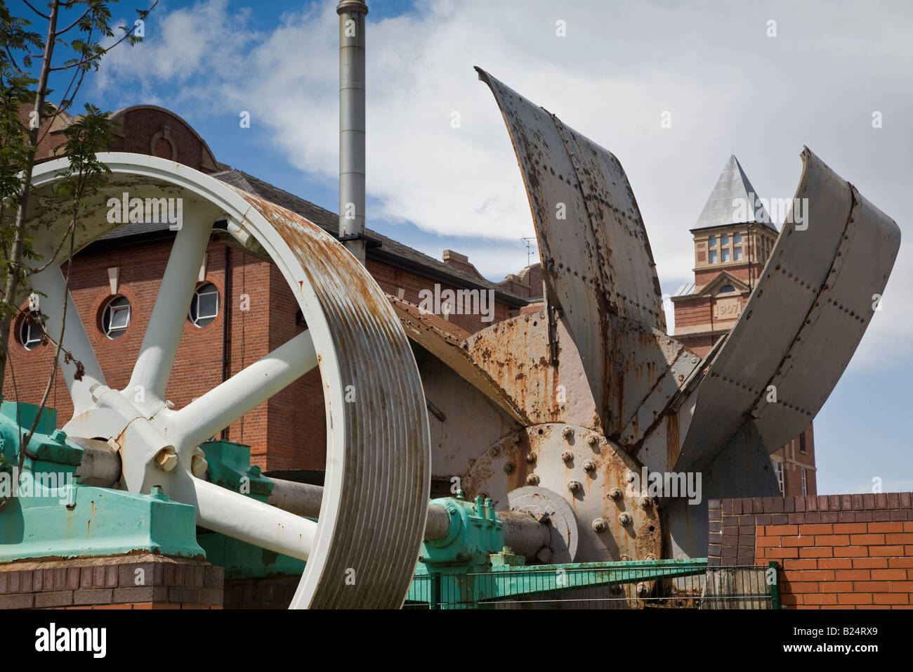 Wigan Trencherfield Mill - Stock Image