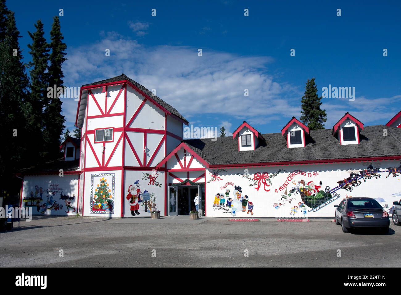 Santa Claus, father Christmas at North pole, Alaska Stock Photo