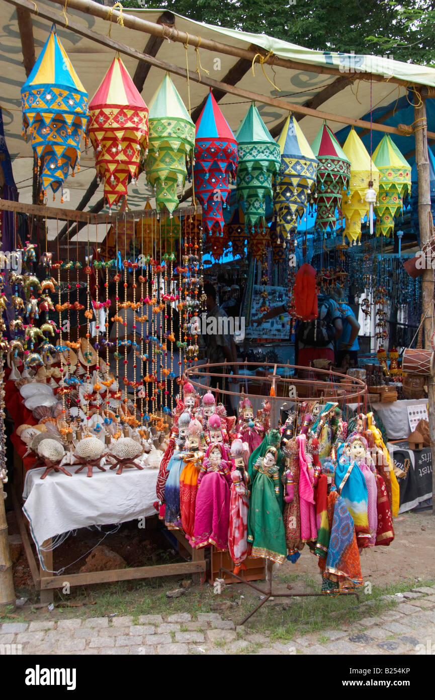 Traditional Indian Handicrafts For Sale Alongside Road Fort Cochin