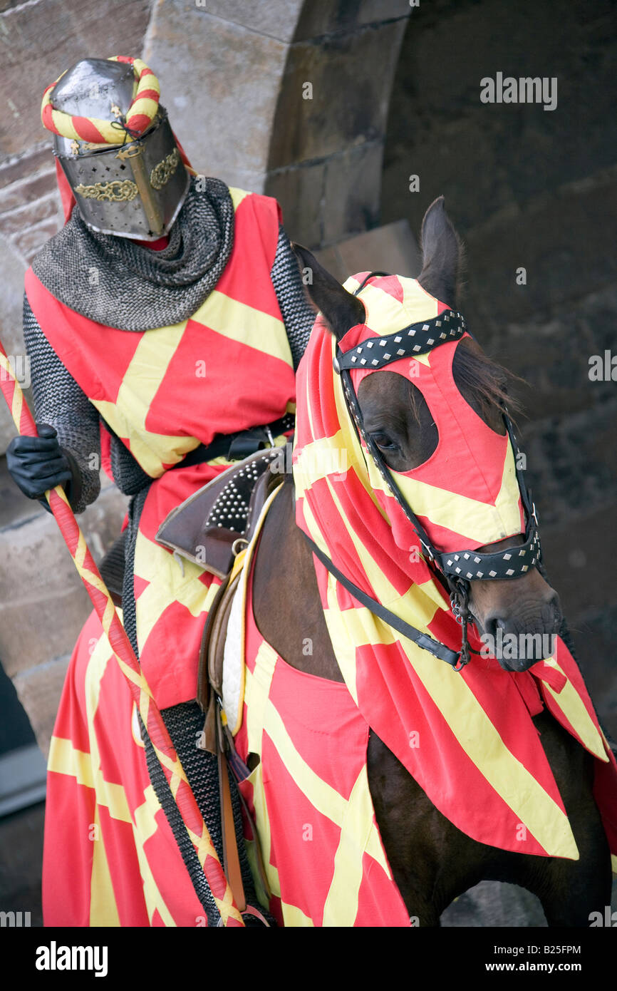 The Knights of Royal England, Jousting at Fort George, Invernesshire, Scotland uk - Stock Image