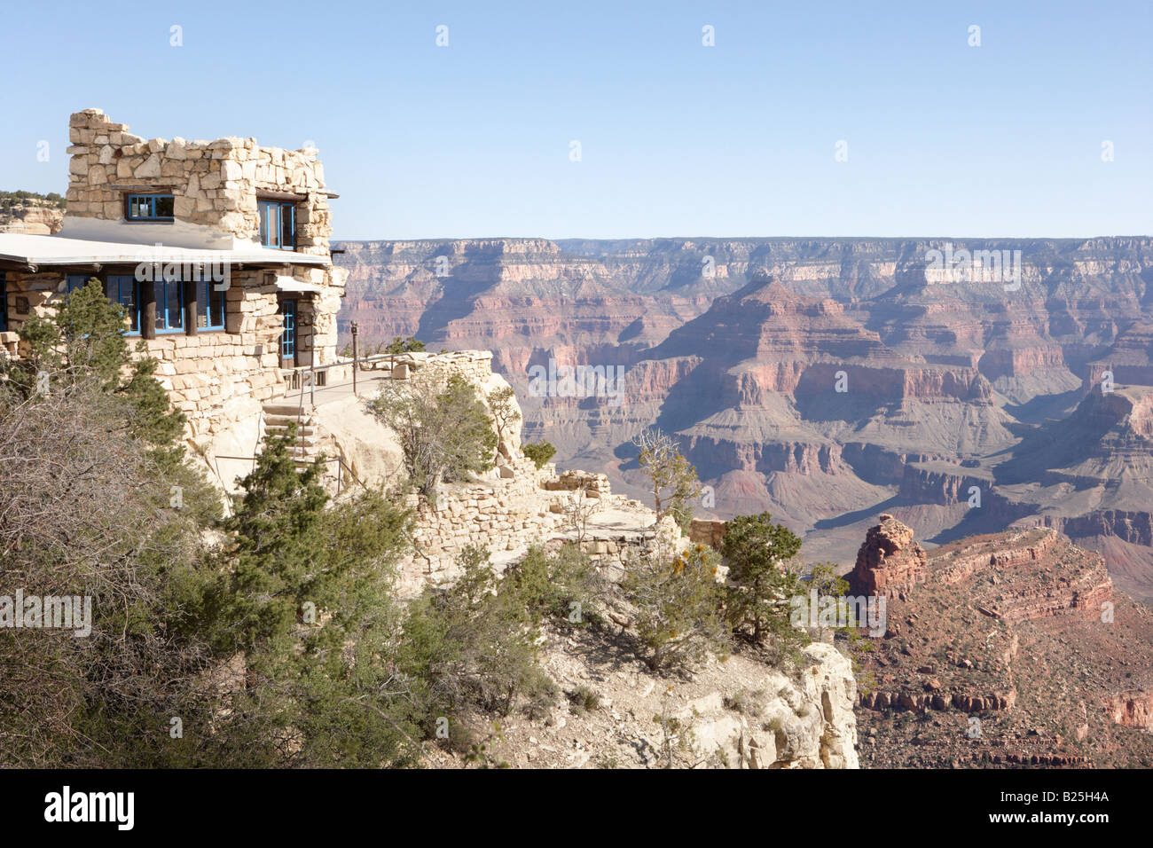 Lookout Studio at Grand Canyon Village in Arizona USA - Stock Image
