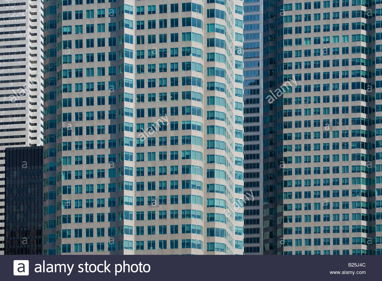 Windows mainly in the twin towers of Brookfield Place in downtown Toronto Ontario Canada - Stock Image