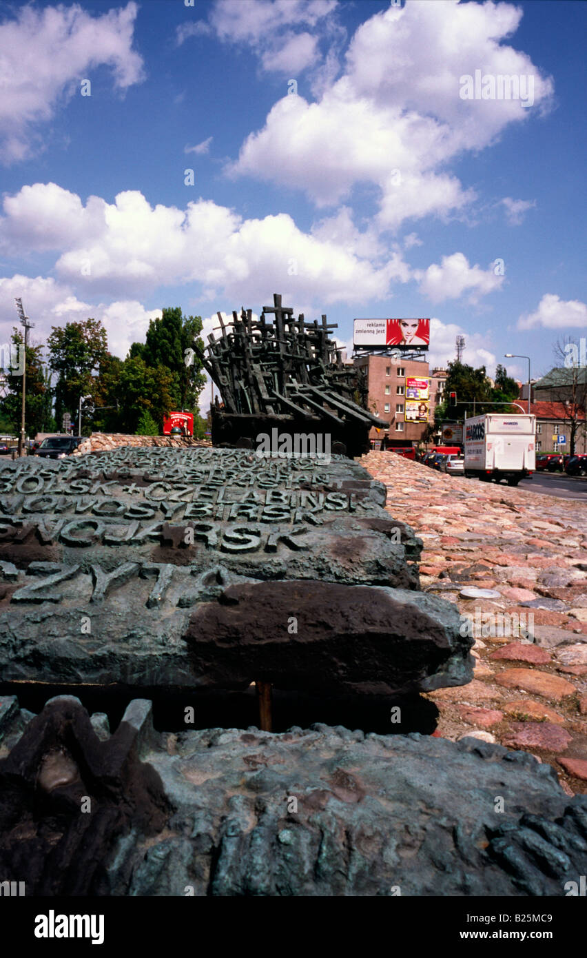 July 10, 2008 - Monument to the victims of the Soviet invasion of Poland on Sept 17, 1939 in the Polish capital - Stock Image