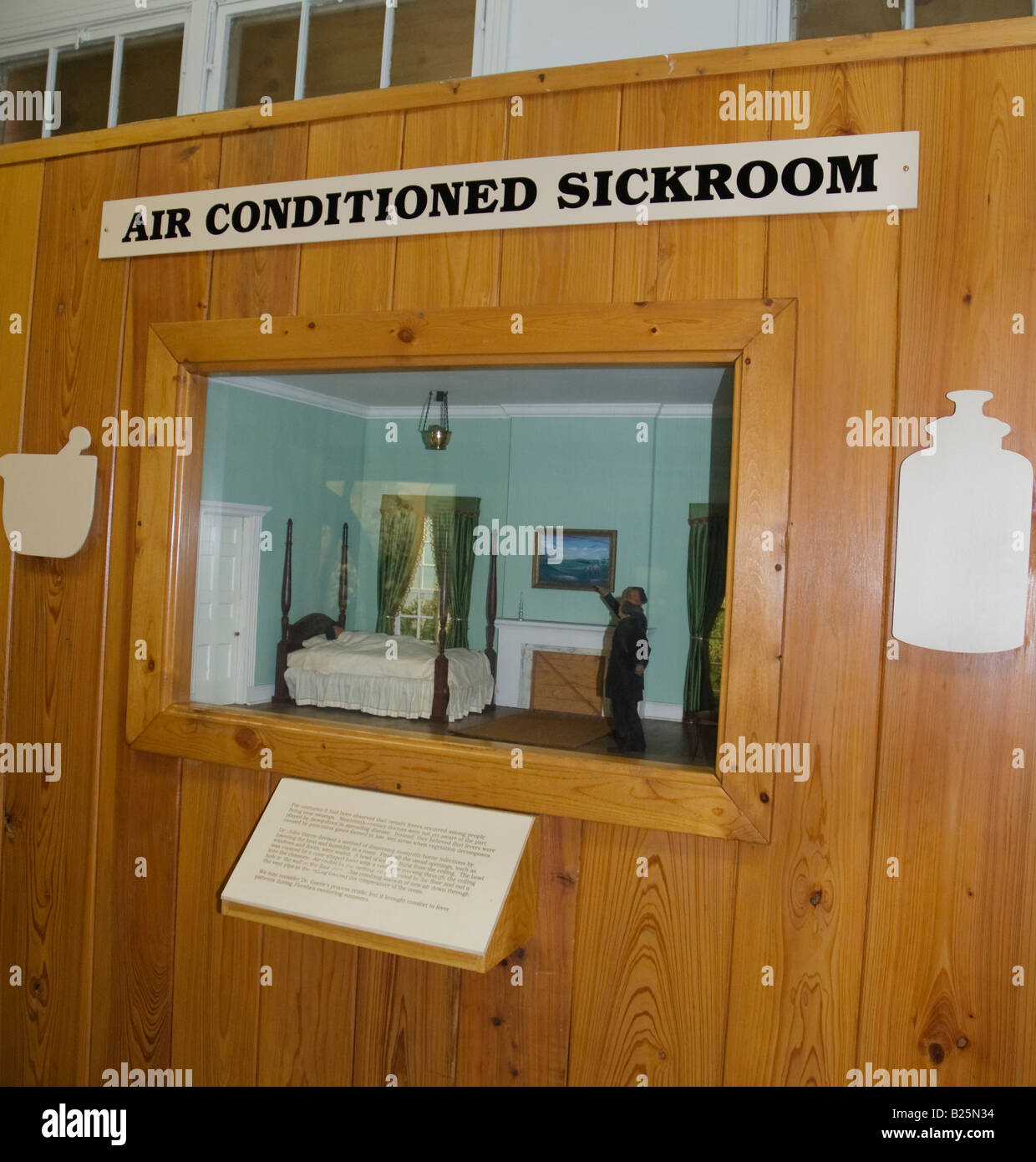 John Gorrie Museum State Park,Apalachicola,Florida. Depiction Showing  Primitive Air Conditioning System.