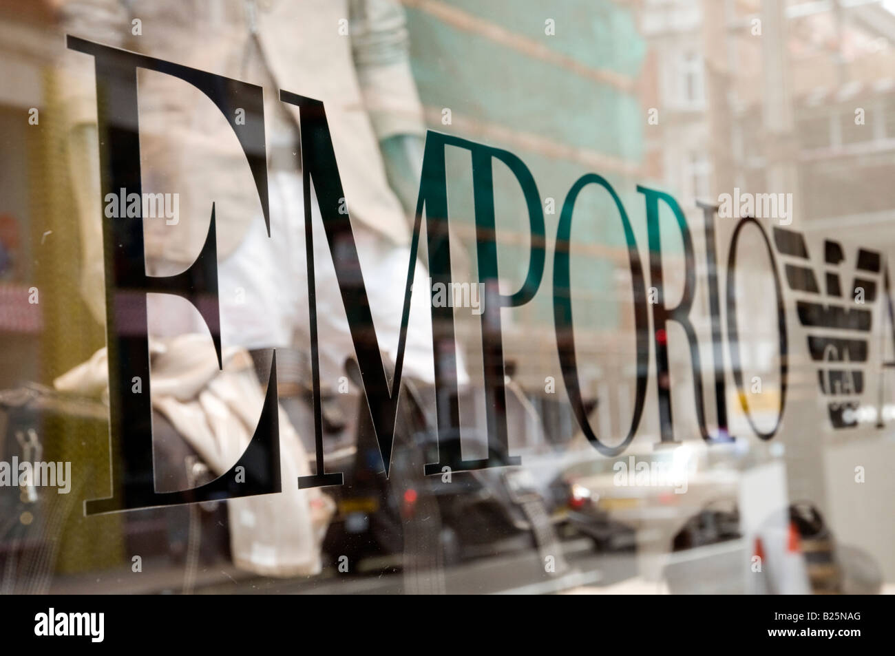 Emporio Armani shop in New Bond Street London England UK - Stock Image